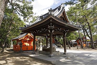 Sumiyoshi Taisha Shinto shrine, one of the oldest in Japan, Osaka, Japan, Asia