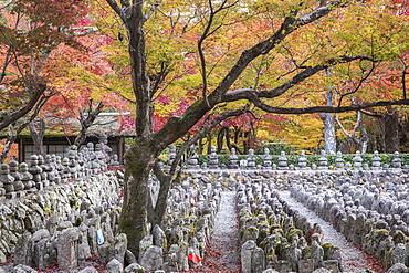 Adashino Nenbutsu-Ji Temple, dedicated to the souls who have died without families, Arashiyama, Kyoto, Japan, Asia