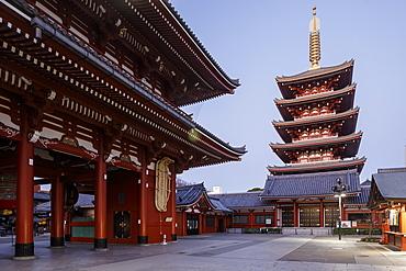Senso-ji Temple, an ancient Buddhist temple in the Asakusa district, Tokyo, Japan, Asia