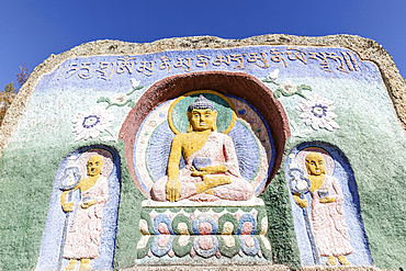 Buddhist carvings, Aryabal monastery in Gorkhi Terelj National Park, Mongolia, Central Asia, Asia