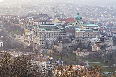 Buda Castle dating from the 18th century, the historic seat of the Hungarian kings, UNESCO World Heritage Site, Budapest, Hungary, Europe