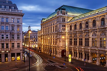 The Vienna State Opera in central Vienna, Austria, Europe