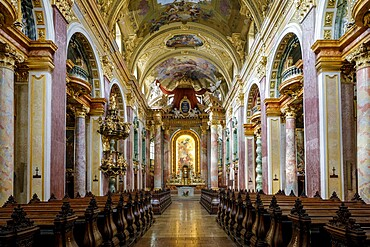 The interior of Jesuit Church in Vienna, Austria, Europe