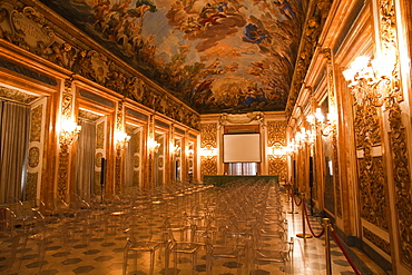 A beautifully ornate room in Palazzo Medici Riccardi, Florence, Tuscany, Italy, Europe