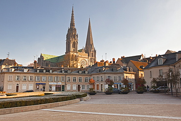 The gothic Chartres Cathedral, UNESCO World Heritage Site, Chartres, Eure-et-Loir, Centre, France, Europe