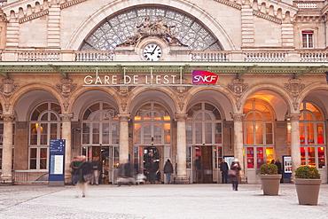 Gare de L'Est Railway station in Paris, France, Europe