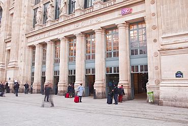 Gare du Nord railway station in Paris, France, Europe