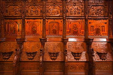 The choir stalls in Saint Denis basilica, Paris, France, Europe