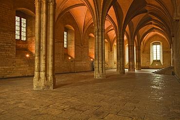 The Salle de la Grande Audience or Big Audience room inside the Palais des Papes, UNESCO World Heritage Site, Avignon, Vaucluse, France, Europe