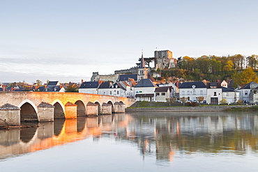 The small town of Montrichard and the River Cher, Loir-et-Cher, France, Europe