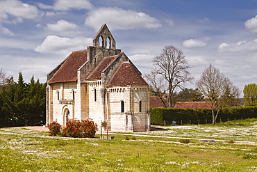 Built in the 12th century, Chapelle Saint Lazare, once part of a leper colony dependent on the hospice of Saint-Aignan, Loir-et-Cher, Centre, France, Europe