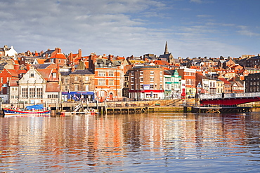 The coastal town of Whitby in the North York Moors, Yorkshire, England, United Kingdom, Europe