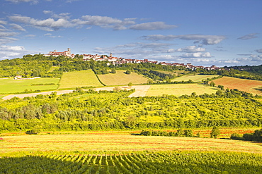 The Beaux Village de France of Vezelay in the Yonne area, Burgundy, France, Europe