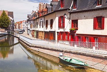Houses in the Saint Leu district of Amiens, Somme, Picardy, France, Europe