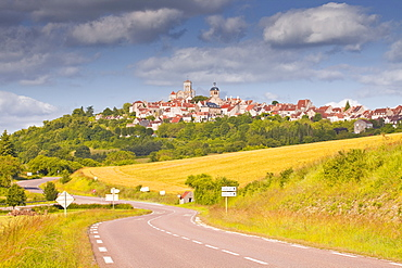 The Beaux Village de France of Vezelay in the Yonne area of Burgundy, France, Europe