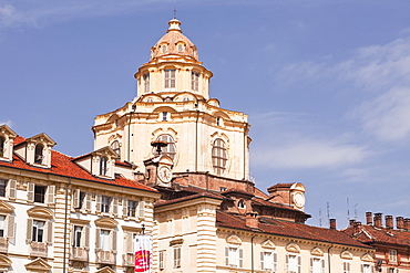 San Lorenzo church in Piazza Castello, designed by Guarino Guarini in the 17th century, Turin, Piedmont, Italy, Europe