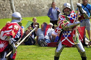 Reenactment of a knight's fight in the Tower of London, England, United Kingdom, Europe