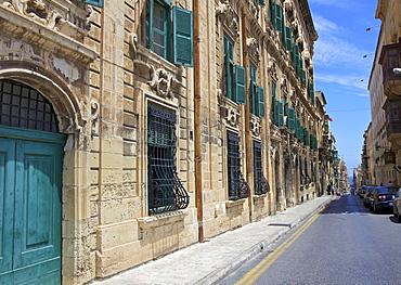 Auberge de Castille one of Valletta's most magnificent buildings, Valletta, Malta, Mediterranean, Europe