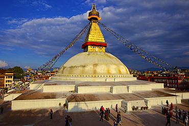 Boudha (Bodhnath) (Boudhanath) Tibetan stupa in Kathmandu, UNESCO World Heritage Site, Nepal, Asia