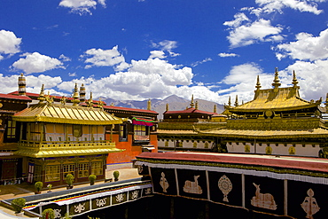 Jokhang Temple, the most revered religious structure, Lhasa, Tibet, China, Asia