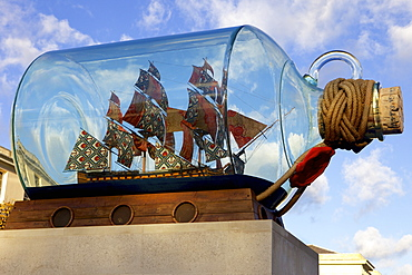 Ship in a bottle at the Maritime Museum, Greenwich, London, England, United Kingdom, Europe