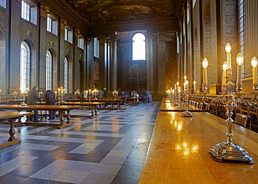 The Painted Hall in King William Court, Greenwich, London, England, United Kingdom, Europe