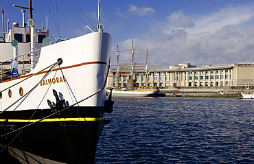 The cruise ship Balmoral beside Princes Wharf at the floating harbour (Harbourside) in Bristol, England, United Kingdom, Europe