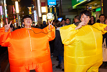 Two Japanese men at the Halloween celebrations in Shibuya, Tokyo