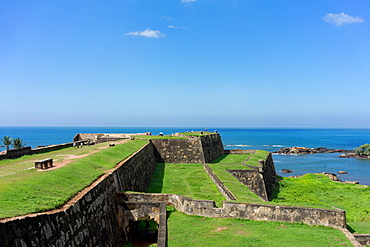 The walls of the fort at Galle, UNESCO World Heritage Site, Sri Lanka, Asia