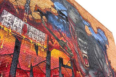 King Kong graffiti at the 798 Art Zone (Dashanzi Art District) in Beijing, China, Asia