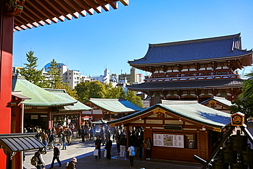 Hozomon Gate at Sensoji Temple (Asakusa Kannon Temple), the oldest temple in Tokyo, Japan, Asia