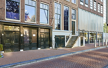Anne Frank House and Museum in Amsterdam, North Holland, The Netherlands, Europe