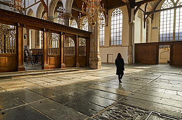 Interior of Oude Kerk (Old Church), Amsterdam, North Holland, The Netherlands, Europe
