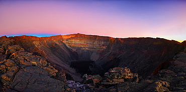 Dolomieu Crater at sunrise, Piton de la Fournaise, Reunion Island