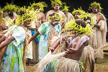 Kanak traditional dance, Cultural festival. Common Poya. New Caledonia.