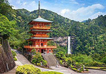 Three Pagoda at Seiganto-ji's temple, Natchi taisha, Japan