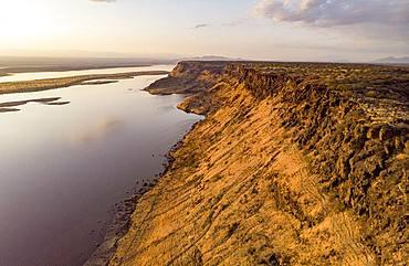 Magadi Lake, Rift Fault, Drone View, Kenya