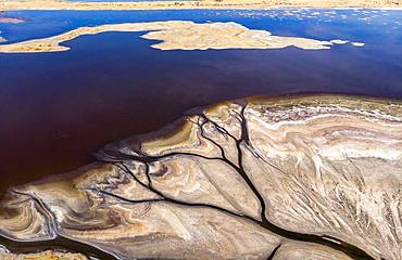 Aerial view of Lake Magadi, Rift Valley, Kenya
