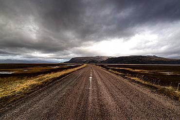 Road in the Varanger Peninsula, Finnmark, Norway
