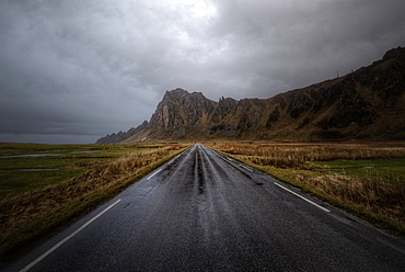 Road in Vesterålen Islands, Nordland, Norway