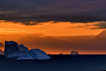 Light in the Scoresbysund. North East Greenland