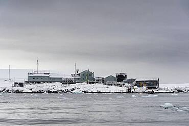 Vernadsky research base, Ukrainian Antarctic station at Marina Point on Galindez Island in the Argentine Islands, Antarctica.