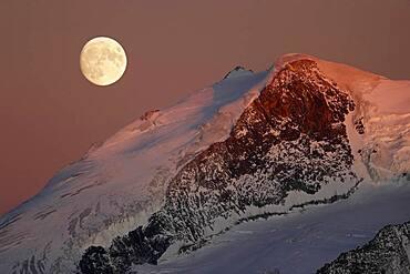 Full moon over the Valais Alps, Switzerland