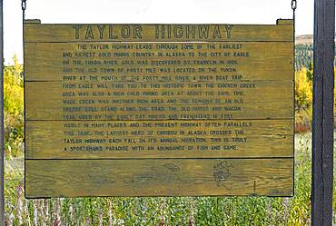 Taylor highway pannel, from Tetlin junction to Eagle city in autumn, Alaska