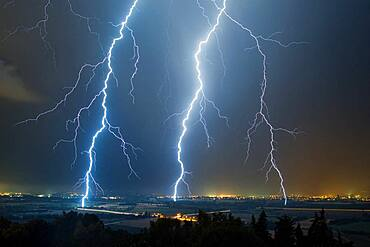 Stormy degradation in the Rh?ne valley on July 11, 2016, Pierrelatte, Dr?me, France