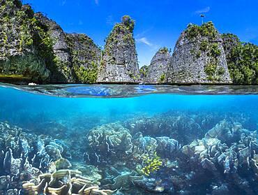 Split level panorama to Raja Ampat, Indonesia