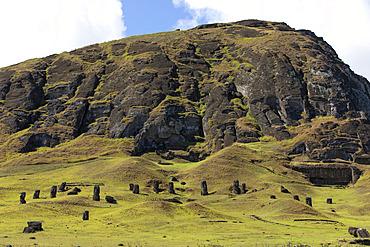 Rano Raraku, Moai Quarry, Easter Island, Chile
