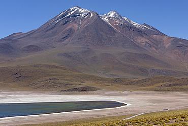 Miscanti Laguna and Miñiques volcano, Los Flamencos National Reserve, San Pedro de Atacama, Chili