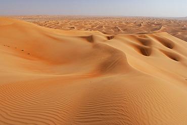 Dunes in the desert of deserts. Desert Rub al Khali Dubai, United Arab Emirates