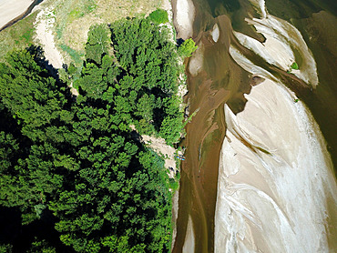 Kayaks on the Loire River, France